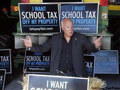 Lorne Weiss, Manitoba Real Estate Association President and chair of the Manitoba Education Financing Coalition, is asking all Manitoba politicians to get the education tax off of the property tax bill.