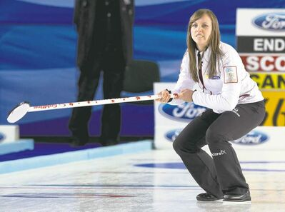andrew vaughan / the canadian pressCanada�s skip Rachel Homan grimaces after missing a double takeout on her last rock of the 10th. Scotland stole one to advance to the gold-medal game of the world women�s curling championship.
