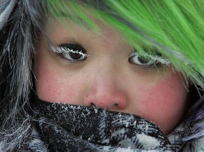 It's so cold outside it'll frost your eyelashes!