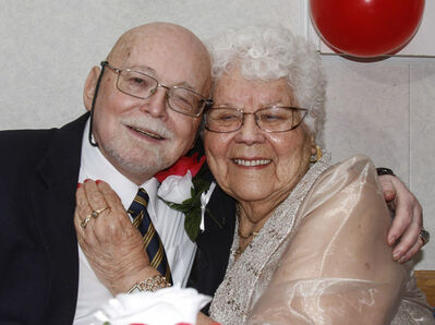 Legionnaires and octogenarians Norm Sanders, 84, and Vina Vesinger, 87, tied the knot Saturday at Sir Sam Steele Legion on Salter Street where they first met on the dance floor. This marriage is Vesinger's fourth. She was first married at 18.