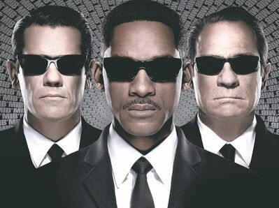 The three men in black: Josh Brolin (from left) Will Smith and Tommy Lee Jones.