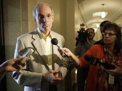 Cabinet minister Steve Ashton says he is mulling a run at the NDP leadership but will consult with party members first.
