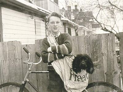 SUBMITTED PHOTOFree Press carrier Alex Ritchie and his dog, Skipper, in 1939.