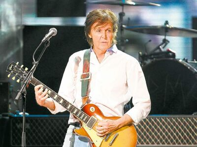 Paul McCartney is currently on a world tour.