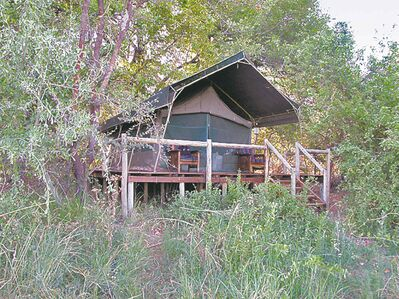 Kanana Camp tent cabins are typical of Okavango Delta camp.