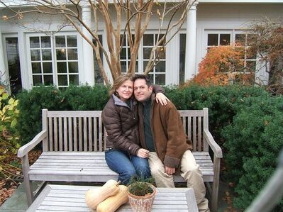 "This 2010 photo provided by Julie Rosen shows Julie Rosen and Ira Fingles together in Saint Michaels, M.D. The couple lives together in Germantown, PA, with Julie's child from a previous relationship and their own child. She calls him her partner, and he uses the term ""faux wife."" (AP Photo/Julie Rosen)"