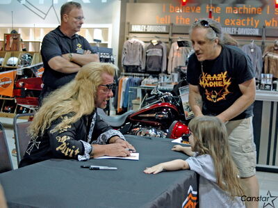 Six year old Kozzy Bellemare meets Dog the Bounty Hunter