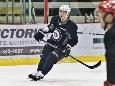 Winnipeg Jets centre Alex Burmistrov is seen Thursday during pre-season practice at the MTS Iceplex. Burmistrov has been assigned to the AHL's St. John's IceCaps prior to the beginning of the NHL lockout.