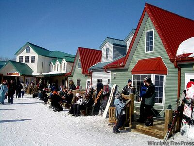 Asessippi has the best skill hill within a six-hour drive of Winnipeg, and a charming little alpine-style village, too.