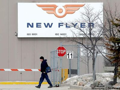 The New Flyer Industries Kernaghan Avenue bus plant.