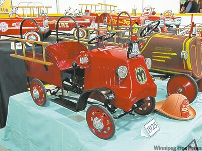 Peter Meier's collection of vintage pedal cars was a huge hit with young and old.