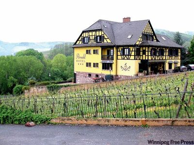 Top, the golden-hued Hotel Arnold is in Itterswiller, the heart of Alsatian wine country. Set among vineyards, it�s about 40 kilometres away from Strasbourg and makes a good base for touring the wine region.