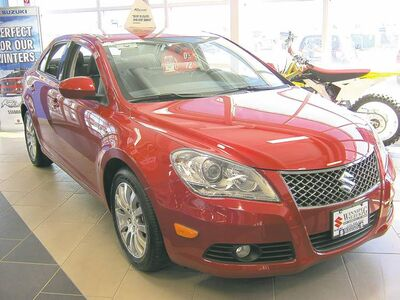2012 Suzuki Kizashi. The Kizashi is equipped with a 185-hp 2.4 litre four-cylinder engine with the six-speed manual or a 180-hp version with the CVT.