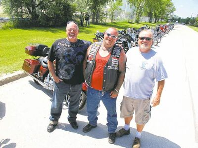 Veteran corrections officers Carl Bernd, Wayne Van Tassel and Al Necsefor (retired) have been bitten by the Harley bug.