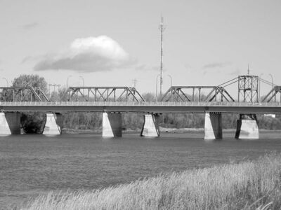 Jonathon Naylor photoThe Bignell Bridge has become a landmark in The Pas, which is celebrating its 100th birthday.