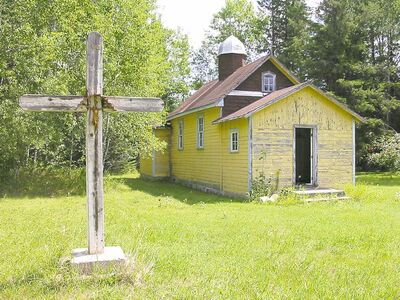 Sadlow Nativity of the Blessed Virgin Mary in Spruce Siding, about 100 kilometres east of Winnipeg.