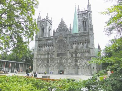 Peter Leney Nidaros Cathedral in Trondheim attracted medieval pilgrims as the burial site of Norway�s patron Saint Olav.