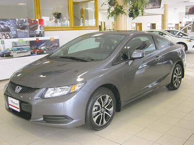 The designers of the 2013 Civic borrowed heavily from the Accord to give the new Civic a more aggressive look.