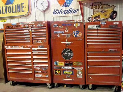 Although this may be overkill for the average do-it-yourselfer, Willy's collection of tools rivals most professional mechanics.