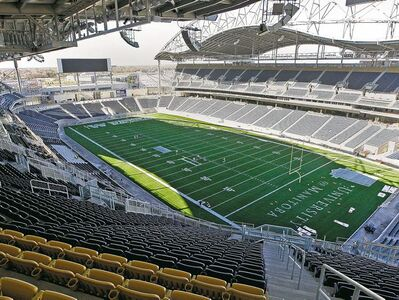 KEN GIGLIOTTI / WINNIPEG FREE PRESSYou can�t hide at Investors Group Field, where state-of-the-art cameras can zoom in on fans to see if they�re being naughty or nice.