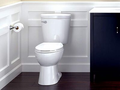 The Corrente model is a 1.28 gallons-per-flush WaterSense labeled toilet that offers potential savings of more than $90 a year in reduced water bills.