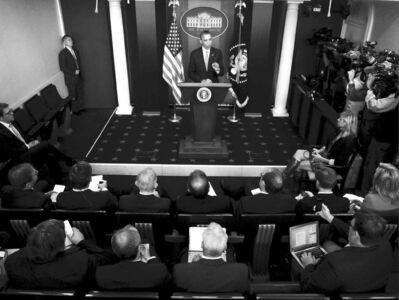 Charles Dharapak / The Associated PressU.S. President Barack Obama makes a statement to reporters Wednesday.