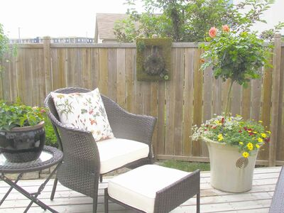 The fall to-do list for the owner of this St. Vital garden begins with carefully storing away cushions and lawn furniture for the winter months.