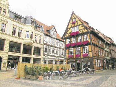 Town Hall oversees one end of Quedlinburg�s Market Square.