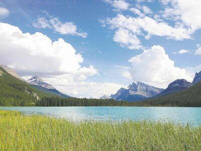 Scenes such as the beauty of Bow Lake abound in Alberta's Banff National Park.