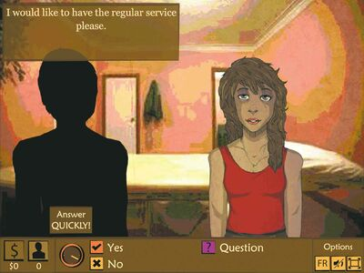 'The Oldest Game' is a web-based  newsgame that allows the player to take on the role of a sex trade worker.