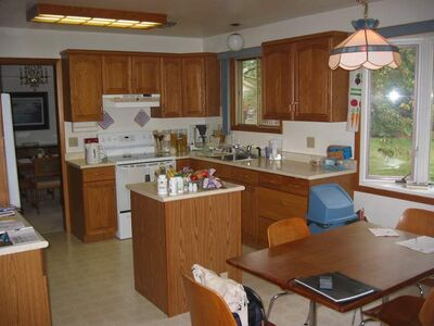 Kitchen before reno.