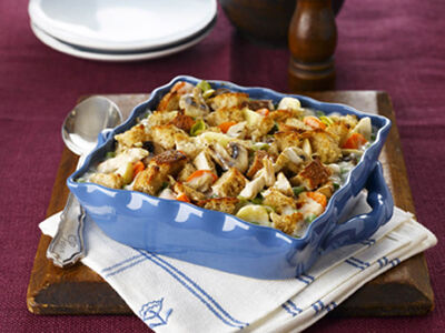 Start the year off right with an easy, tasty and good-for-you creamy, comforting casserole.