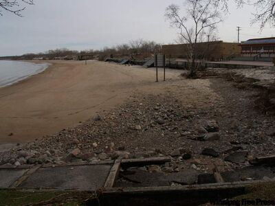 Grand Beach following the late-October 2010 storm.