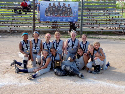 The Manitoba Thunder U12 squirt fastpitch team is shown after its victory at provincials last month. Back row: Madison Clarke, Mia Rogerson, Jayde Boyechko, Breanne Delorme, Kirstin Gautron, Elizabeth Johnston, Keely Puff. Front row: Tesia Hrom, Natalie Ellis, Grace Minsky, Jenna Parfeniuk.
