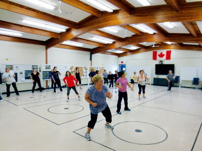 Participants in the Elmwood Community Resource Centre's spring Zumba session are shown. The centre is helping to organize an eight-week session beginning in September.
