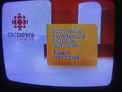 "CBC displayed a ""technical difficulties"" message after briefly showing live results earlier than allowed Monday night."