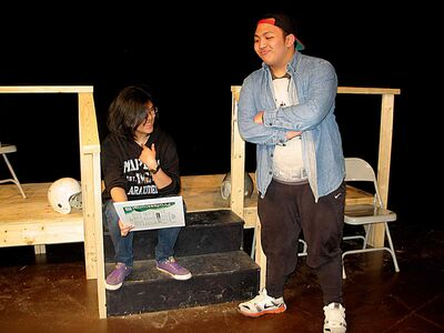 Maples Collegiate students Arabella Robles (left) and Patrick Eulalia star in the school's production of Almost, Maine.