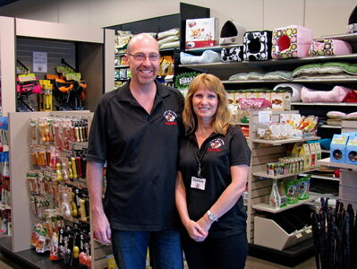 Chris and Debbie Delorme, owners of Global Pet Foods Winnipeg. Global Pet Foods is seeking nominations for the 2013 Heroic Heart Pet Service Award, which recognizes outstanding animal rescue and shelter volunteers.
