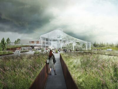 Artist renderings of Canada's Diversity Gardens, which will feature plants from all over the world.