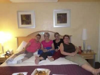 SUPPLIED</p><p>Thelma Krull with her sisters, Charlotte and Jean, and her sister-in-law Lillia, while on a family cruise in 2015.</p>