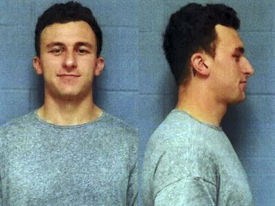 Highland Park Department of Public Safety</p><p>Johnny Manziel was booked on domestic violence charges in May 2016.</p></p>