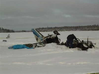 On Jan. 10, 2012, a Piper PA-31 (Navajo)  crashed near North Spirit Lake, Ont. Four of the five people on board were fatally injured.