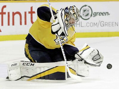 Nashville Predators goalie Pekka Rinne is a perpetual candidate for the Vezina trophy but has never won the award for the league's top goalie.