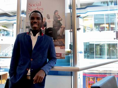 Richie Diggs is starring in Social Studies, his first professional role.