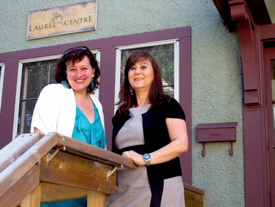 Louise Waldman (left), executive director of the Prairieaction Foundation, and Suhad Bisharat, executive director of the Laurel Centre.