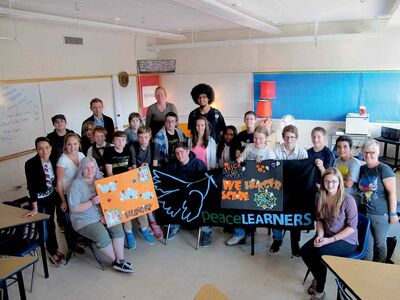 The Churchill High School Peace Leaders club has spearheaded the school's Hunger Month activities and fundraising efforts.