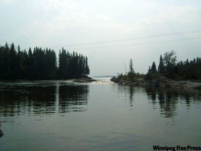 Sasagiu Rapids Provincial Park is a great place to take a breather during a long drive, but that's about it.