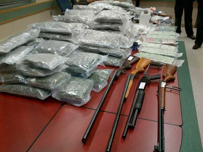 RCMP also seized four firearms.
