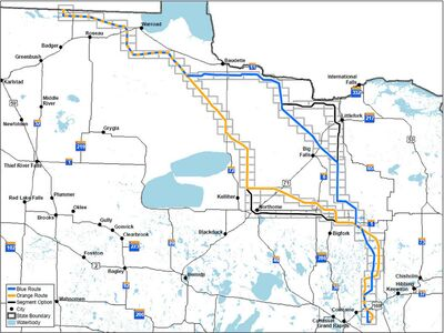 Minnesota Power submitted the proposed route alternatives shown in the map in a Route Permit Application in April 2014.