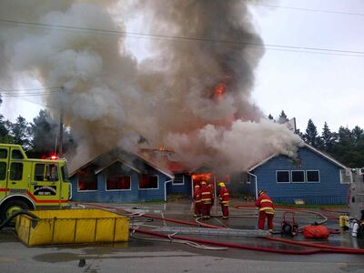 The West Hawk Inn in West Hawk Lake was damaged by fire Friday morning. There were no injuries.